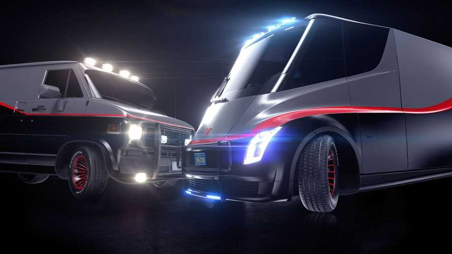 Tesla Semi Turns Into Retro-Futuristic Model A Van For A-Team Reboot