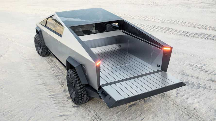 Tesla Cybertruck To Fit Full 4x8 Plywood Sheets With Tailgate Stop