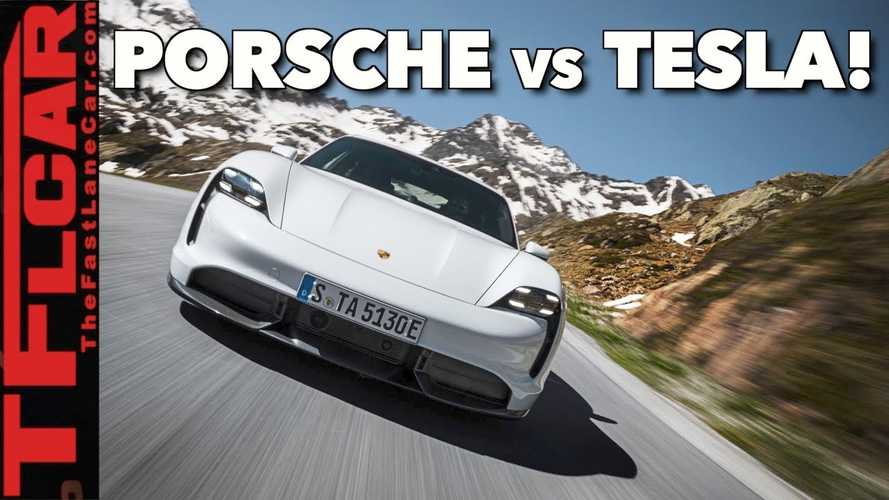 Is Porsche Taycan Actually Faster Than a Tesla In Ludicrous Mode?
