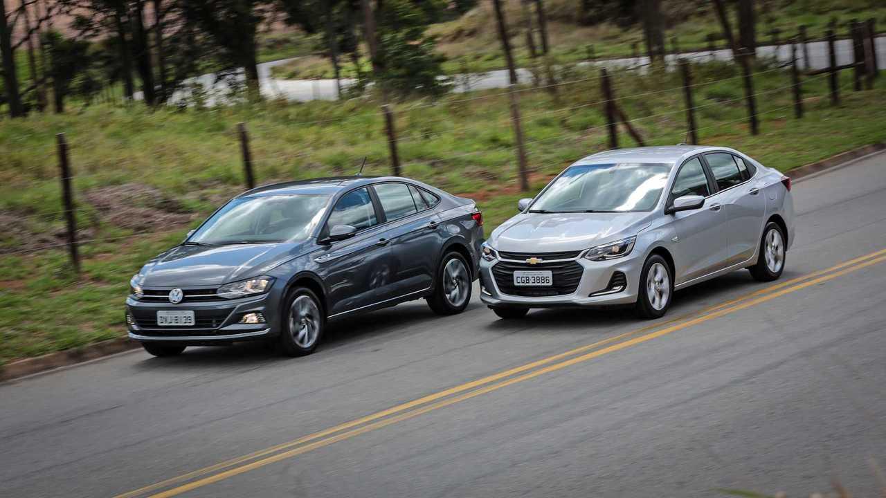 Chevrolet Onix Plus x VW Virtus