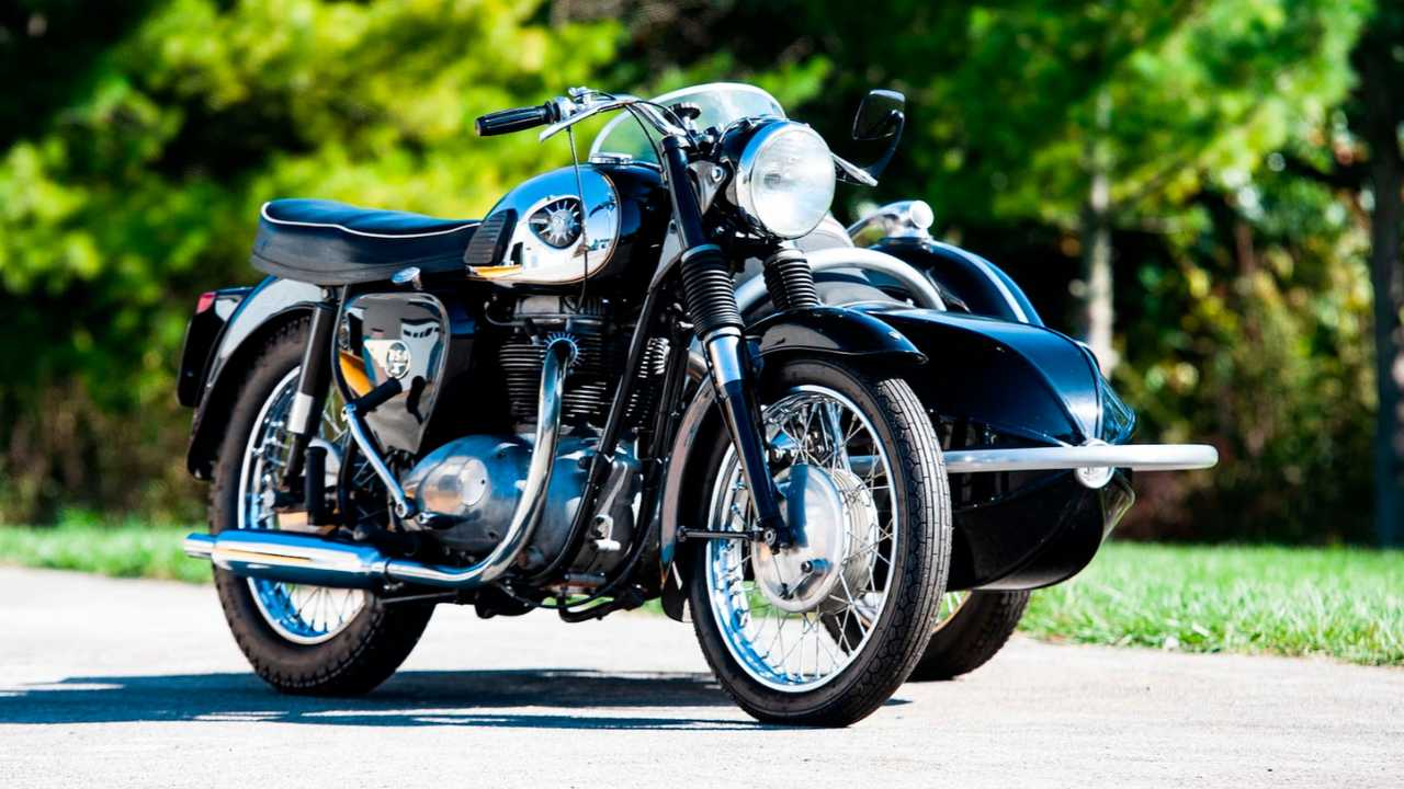 1958 BSA A65 With Steib Sidecar
