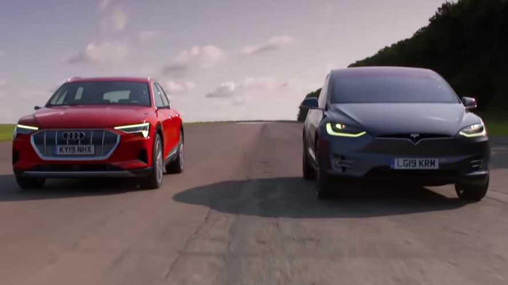 Place your bets: Tesla Model X drag races Audi E-Tron
