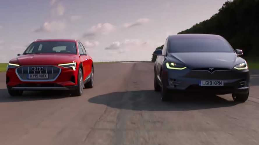 Place Your Bets: Tesla Model X Drag Races Audi E-Tron