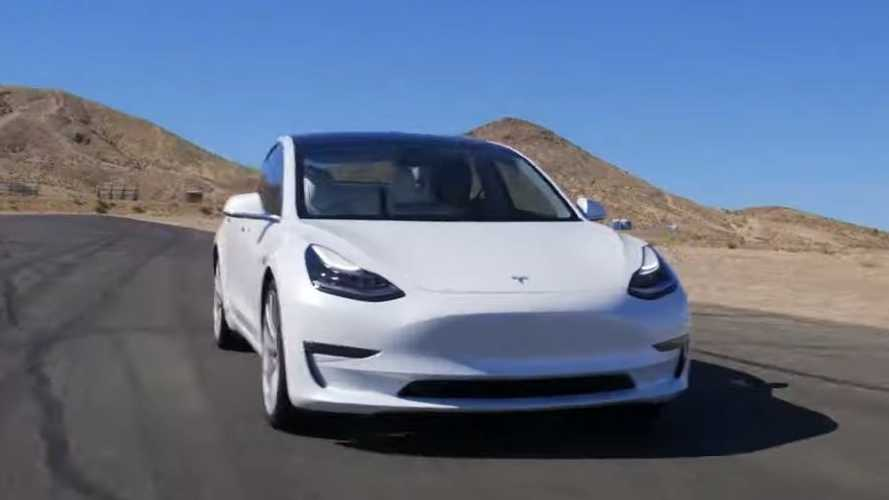 Watch Tesla Model 3 Performance pass Porsche 911 GT3 on a track