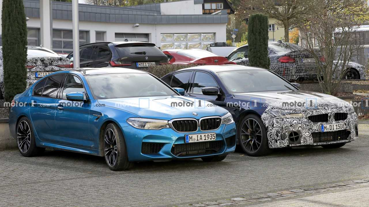 Bmw M5 Facelift Spied Next To Current Model Highlights Differences