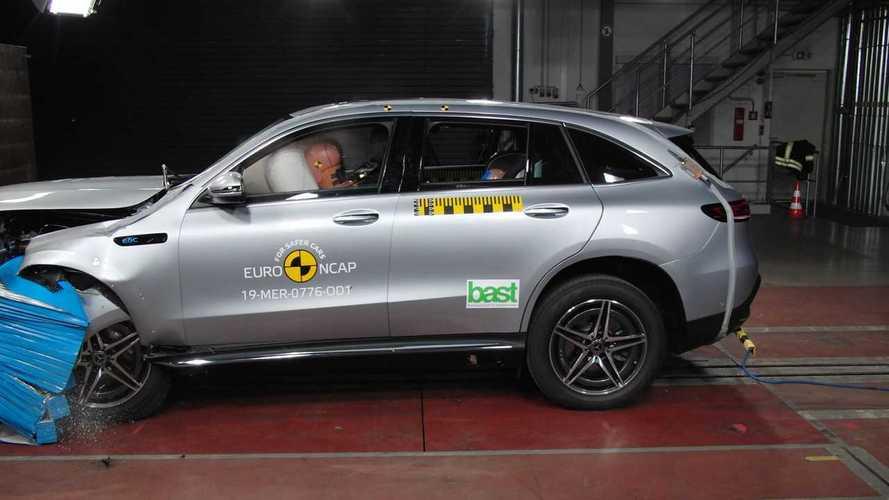 Mercedes-Benz EQC, 5 stelle nei test Euro NCAP