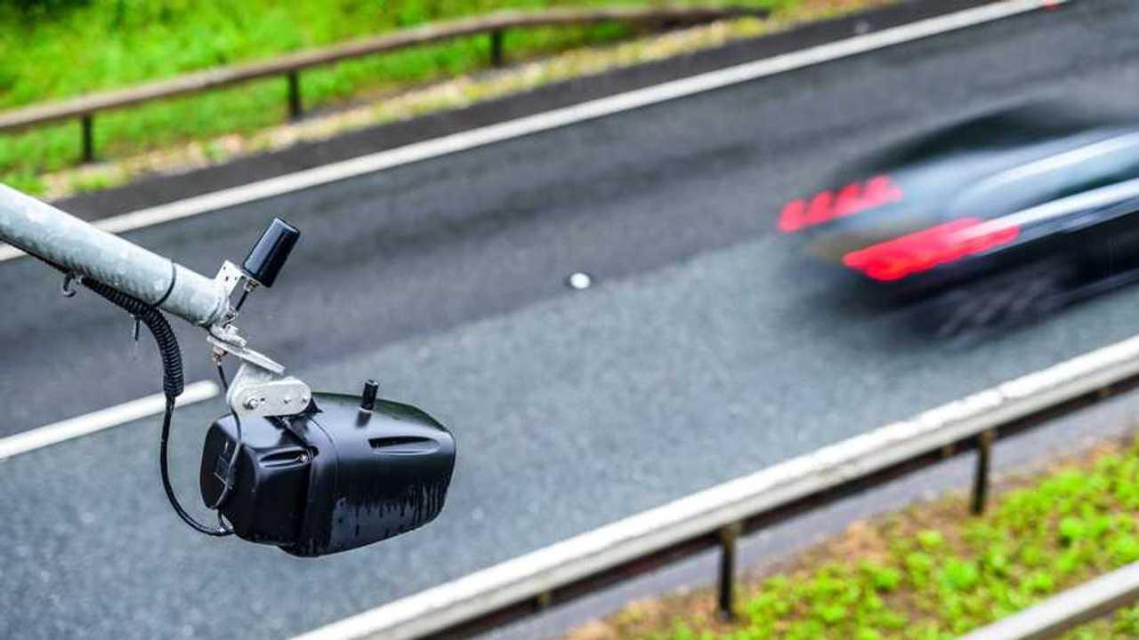 Average speed traffic camera over UK motorway