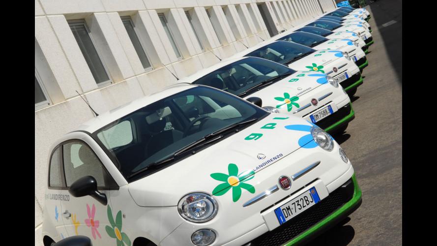 La Fiat 500 a tutto gas… e fiori