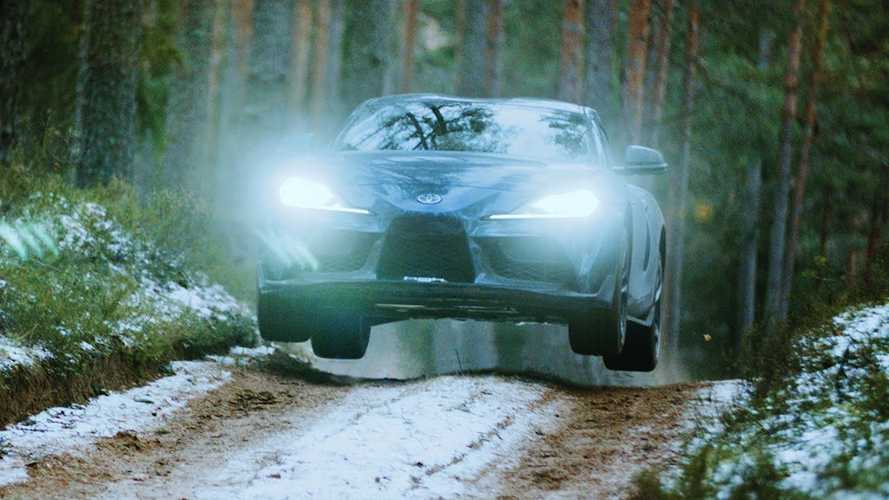 Watch A 2020 Toyota Supra Blast Through The Woods Without A Care