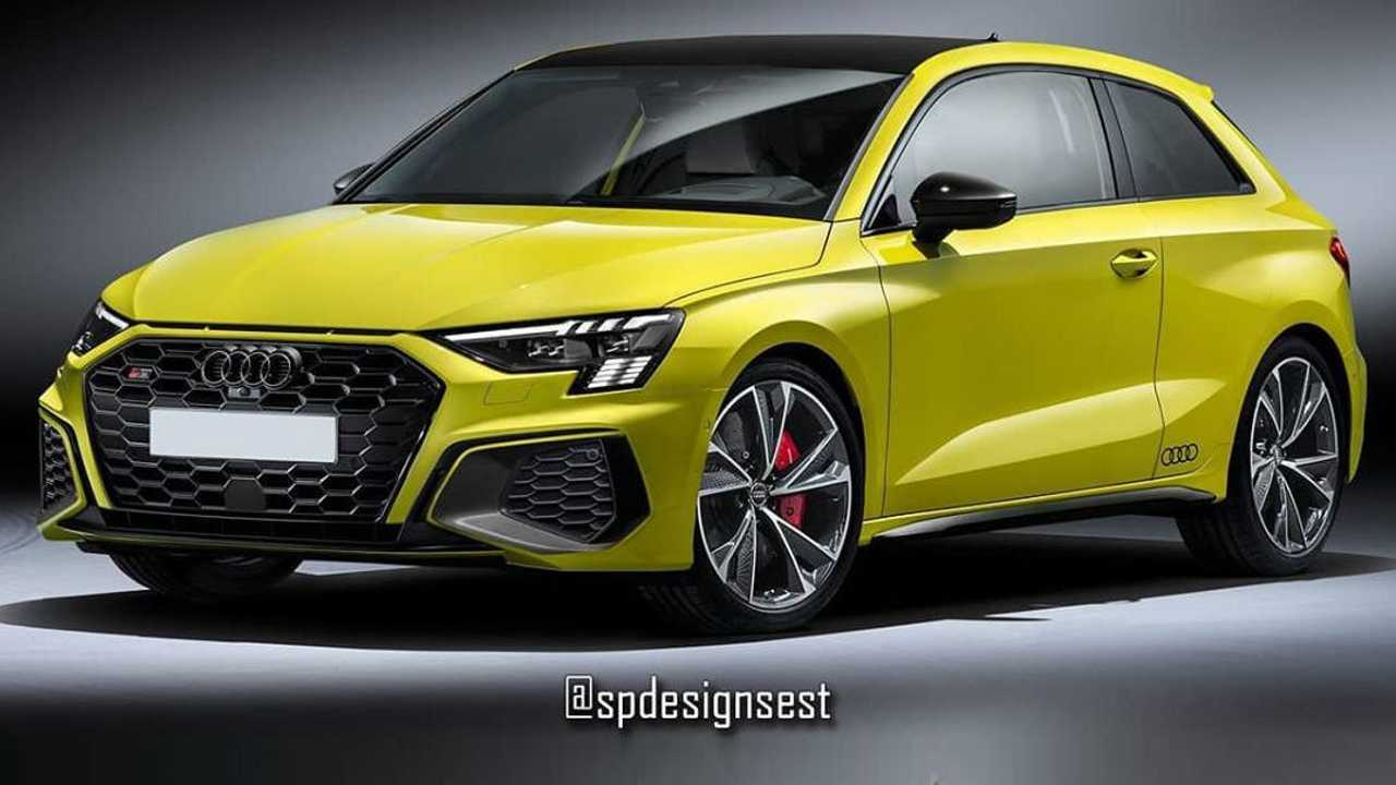 2021 Audi S3 Dreitürer Schrägheck Renderings