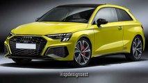 Audi S3 tres puertas 2021 recreación