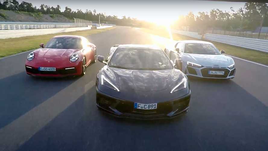 Corvette C8 Nearly As Fast As Audi R8 And Porsche 911 At Hockenheim