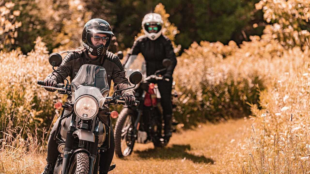 2021 Royal Enfield Himalayan, Gravel Gray and Red Rock, Off-Road
