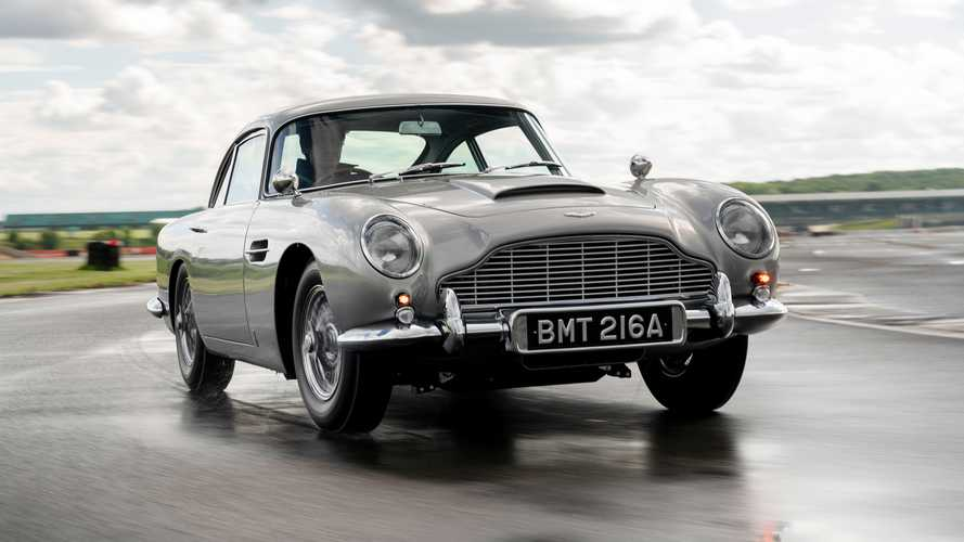 Shmee Drives James Bond's Aston Martin DB5 And Checks Out The Gadgets