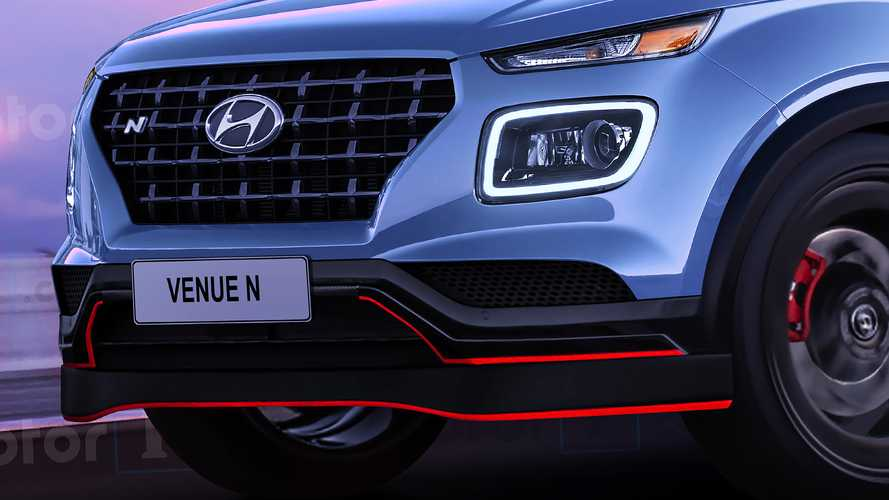 Hyundai Venue N 2020, render de Motor1.com