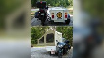 awesome custom motorcycle campers