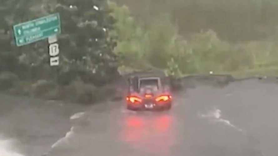 Watch a McLaren nearly drown in an American flood