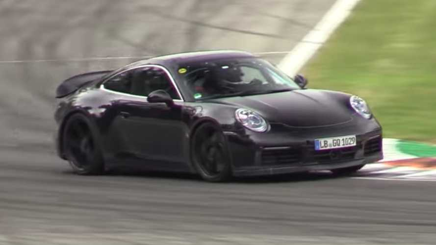 Porsche 911 GT3 and Touring spied running hard around Monza
