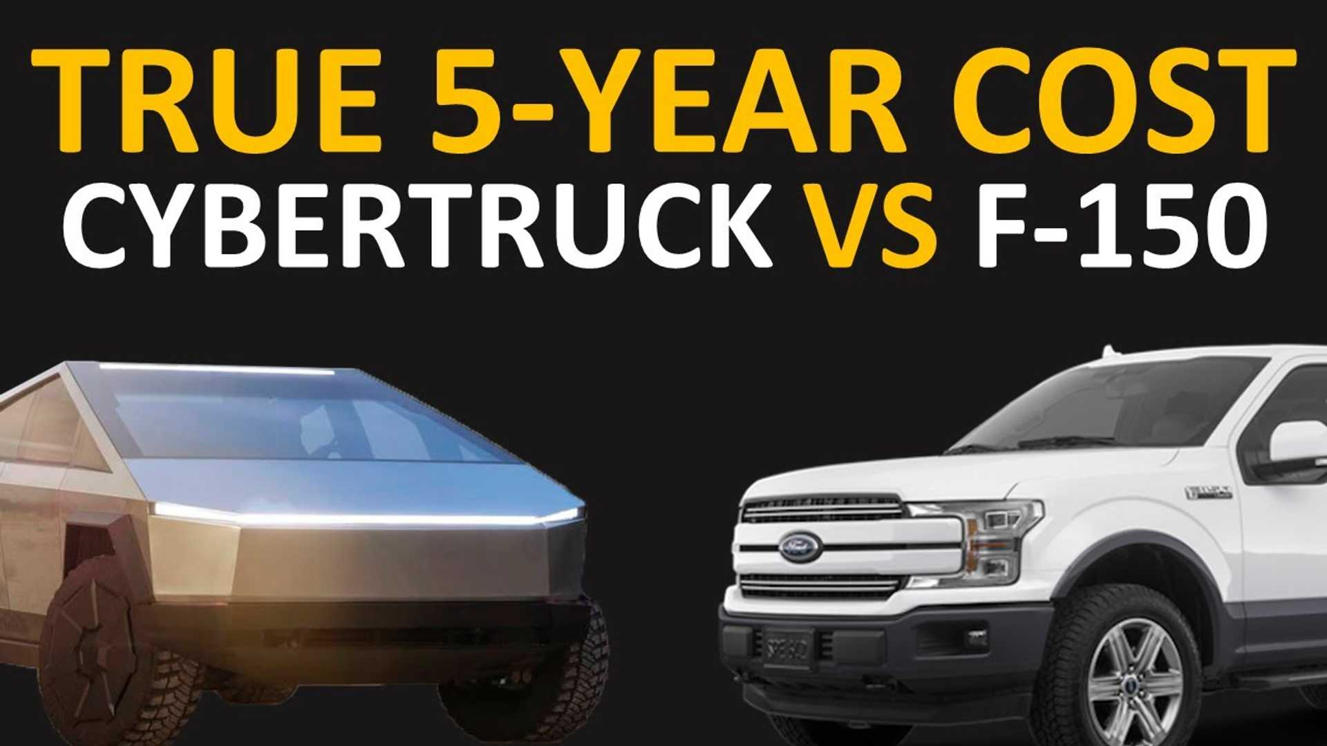 Tesla Cybertruck Vs Ford F-150: Estimated 5-Year Ownership ...