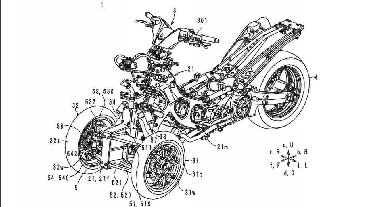 Yamaha Leaning Trike Scooter Patent