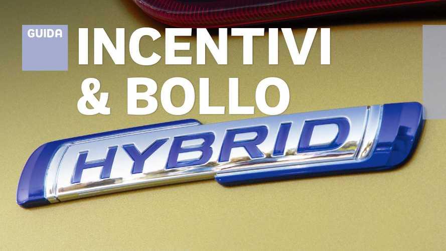 Auto ibride, quali sono gli incentivi regionali e dove non si paga il bollo