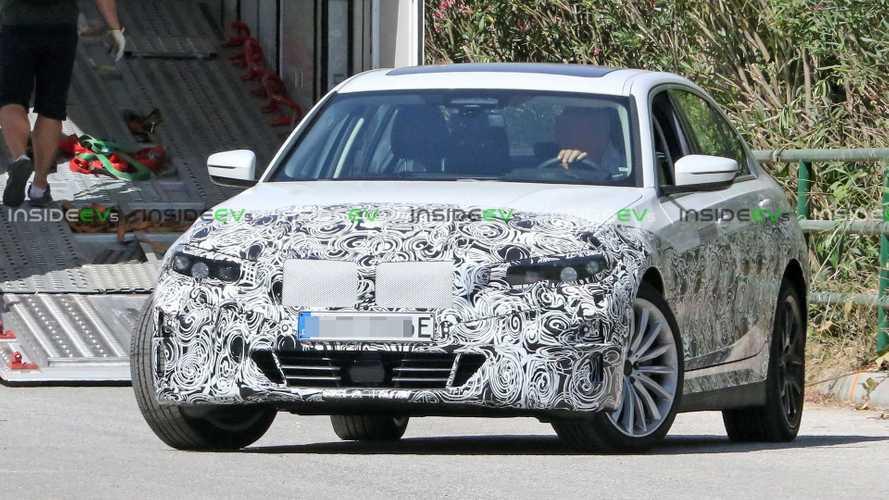BMW Serie 3 elettrica, le foto spia