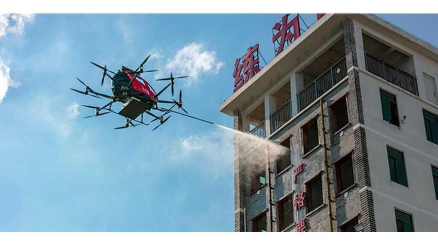 Non solo CanadAir, dalla Cina arriva il Drone elettrico antincendio