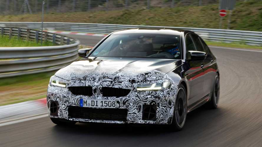 BMW M5 restyling (2020), il primo test
