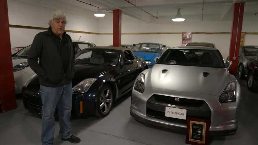 Jay Leno visits Nissan's North American heritage collection
