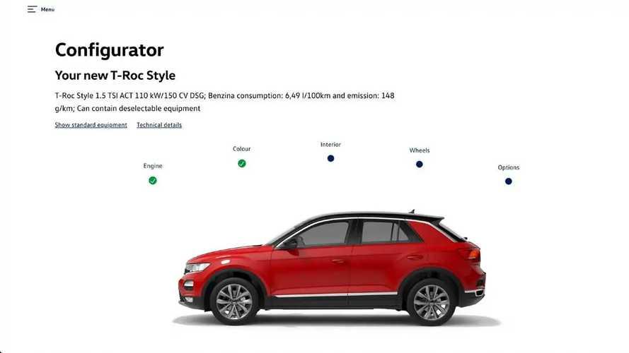 Volkswagen T-Roc, come configurarla