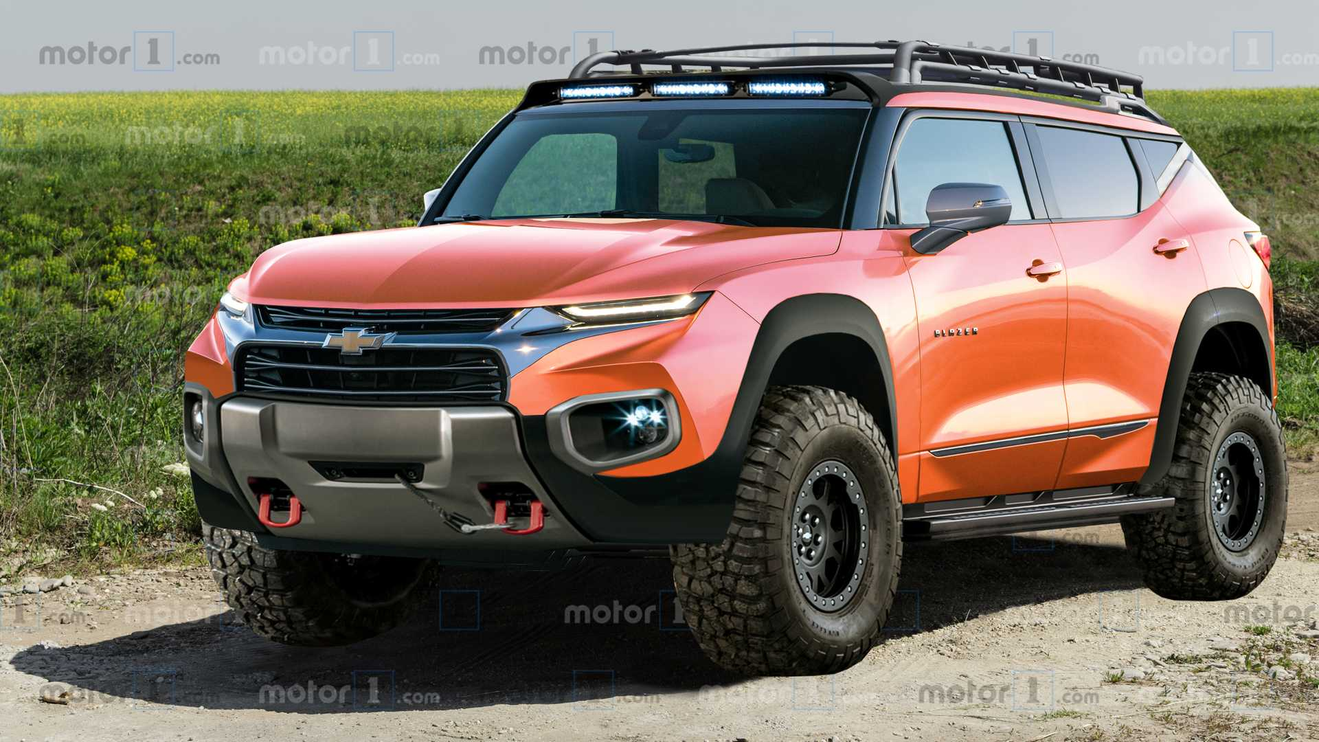 Chevy Blazer Rendered As Rugged Off Road Ford Bronco Fighter