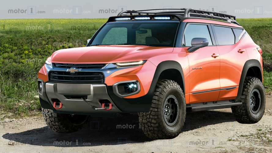 Chevy Blazer Rendered As Rugged, Off-Road Ford Bronco Fighter