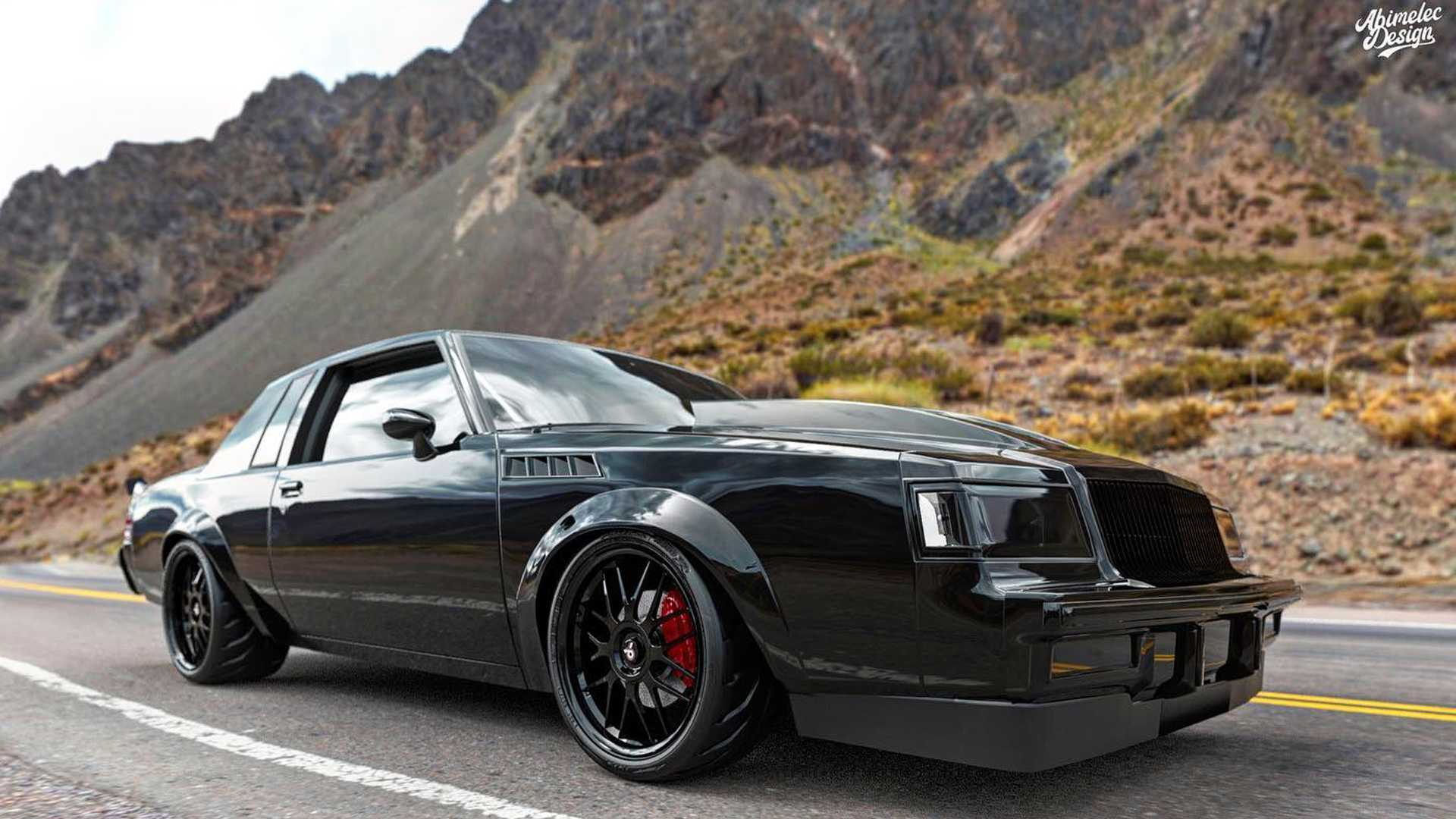 Hellcat-Swapped Buick Grand National Rendering Previews A Real Car