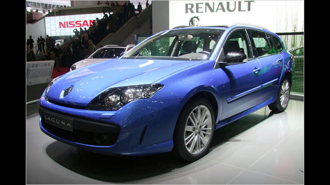 Renault zeigt den Laguna GT, der eine Allradlenkung vorweisen kann