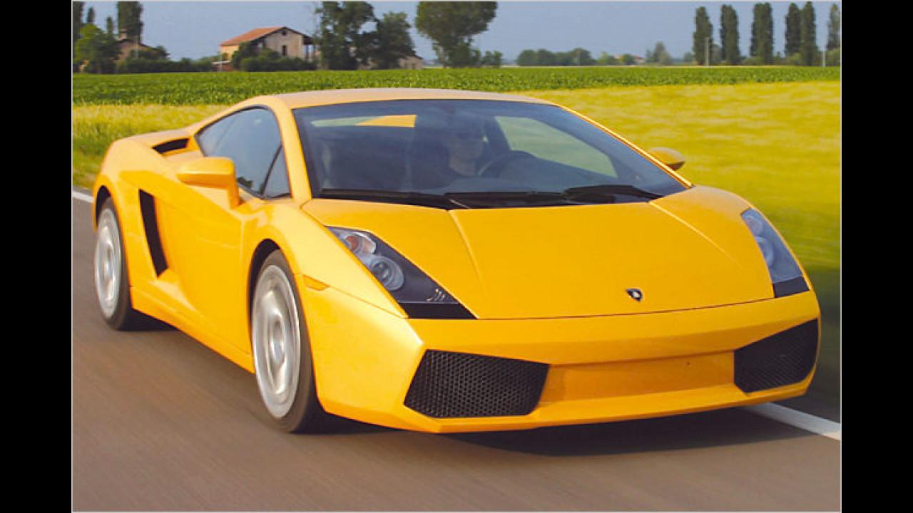 2003 schickte Italien wieder was ins Nachbarland: Der Lamborghini Gallardo rockte die reiche Schweiz