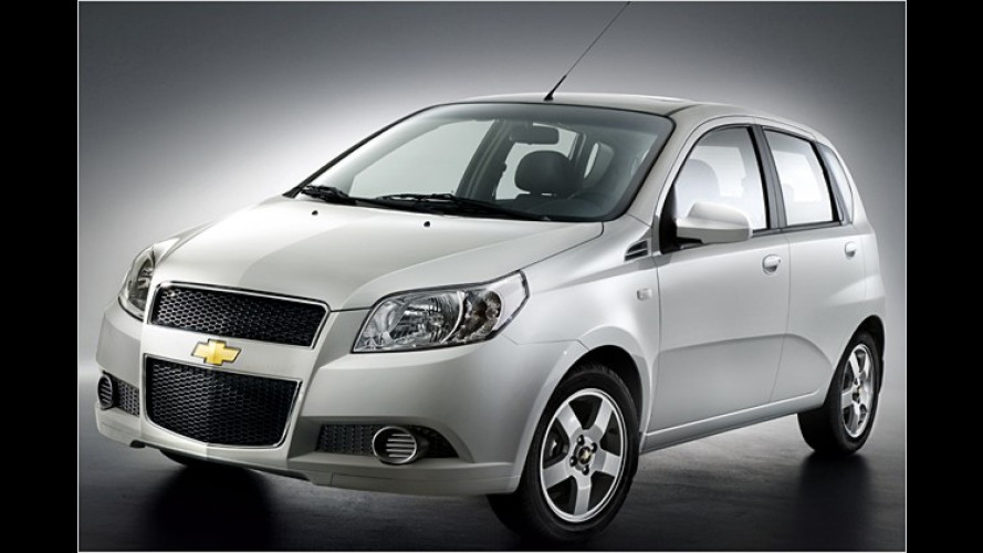 Unter 10.000 Euro zu haben: Der neue Chevrolet Aveo