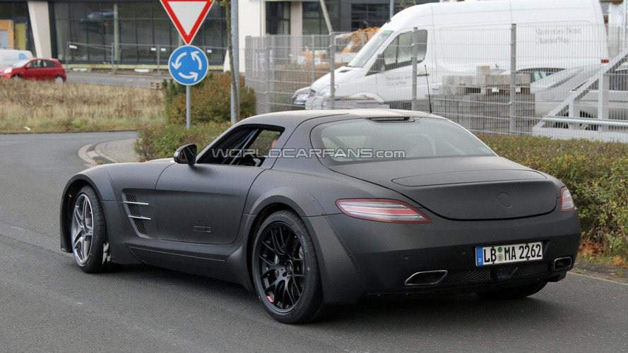 2013 Mercedes SLS AMG Black Series first time spied