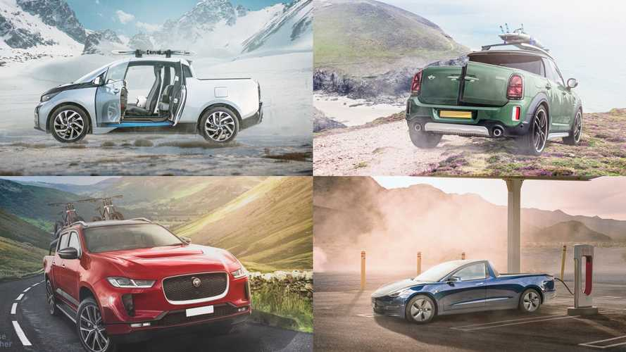 Could electric pickup trucks be EV-derived? Check out these renderings