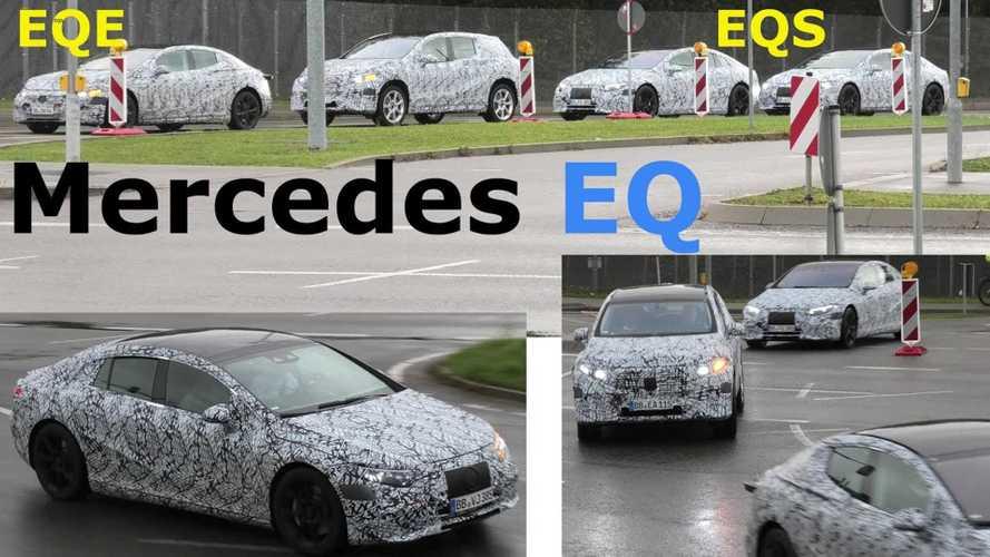 Mercedes-Benz EQS, EQE And EQS SUV Spy Video