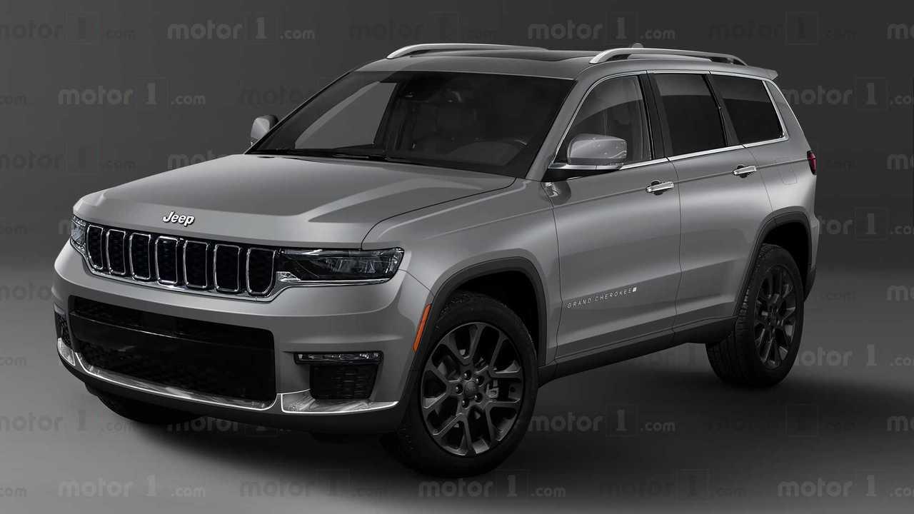 Рендер нового Jeep Grand Cherokee, вид спереди