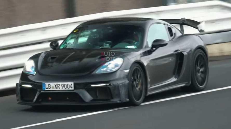Porsche Cayman GT4 RS Spied During Extended Nürburgring Test Session