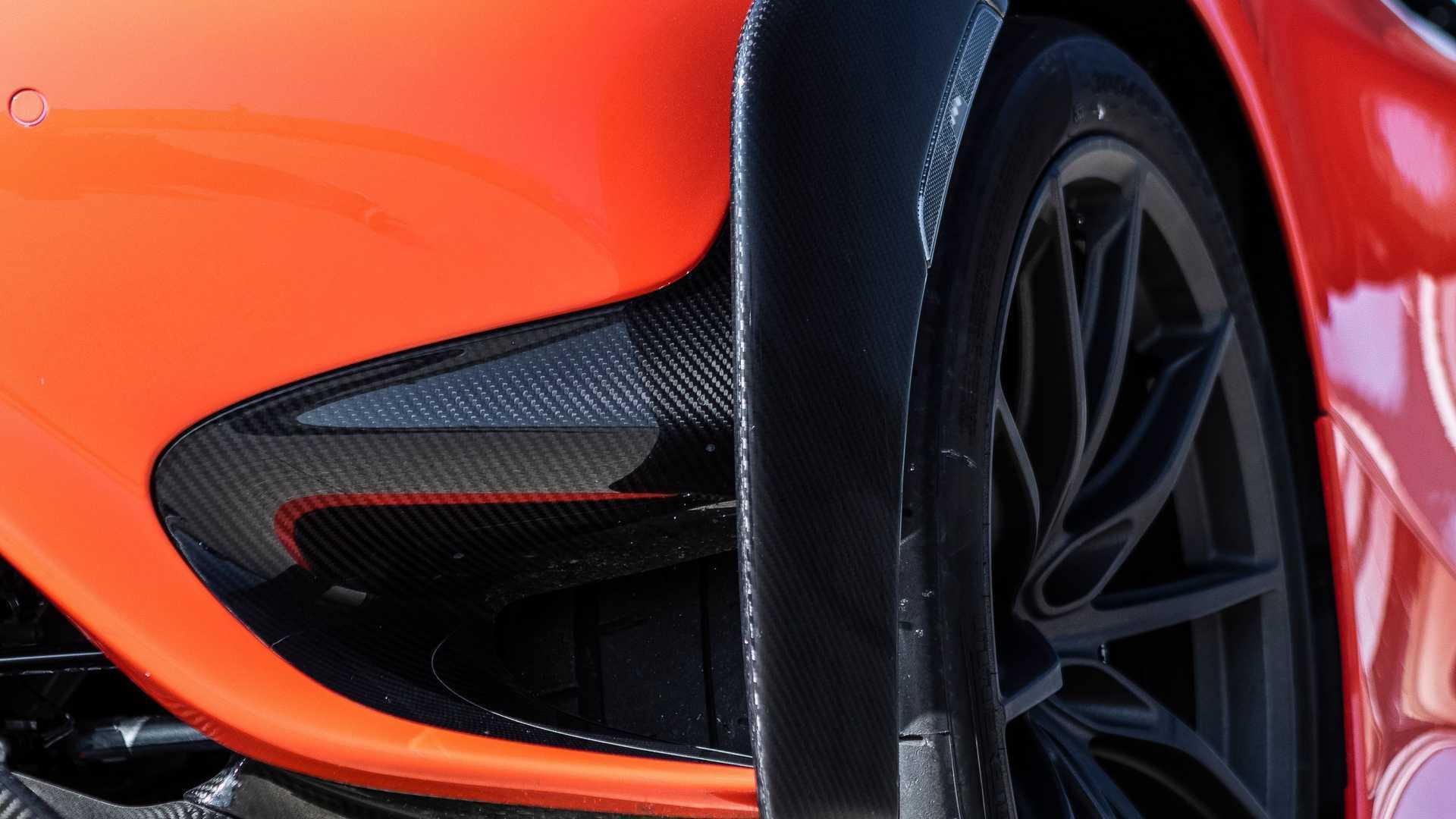 2021 McLaren 765LT brake duct