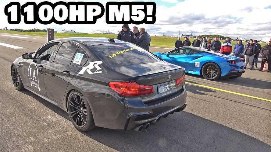 Elég-e 1100 lóerő ahhoz, hogy egy M5-ös BMW legyorsuljon egy Ferrari F8 Tributót?