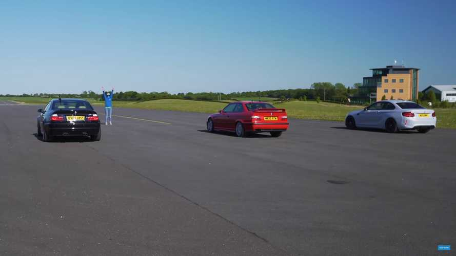 BMW M2 Competition drag races M3 E46 and E36 for inline-six supremacy