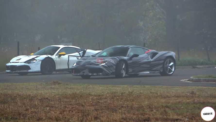 Ferrari V12 And Hybrid V6 Test Mules Spied Sneaking Around In Fog