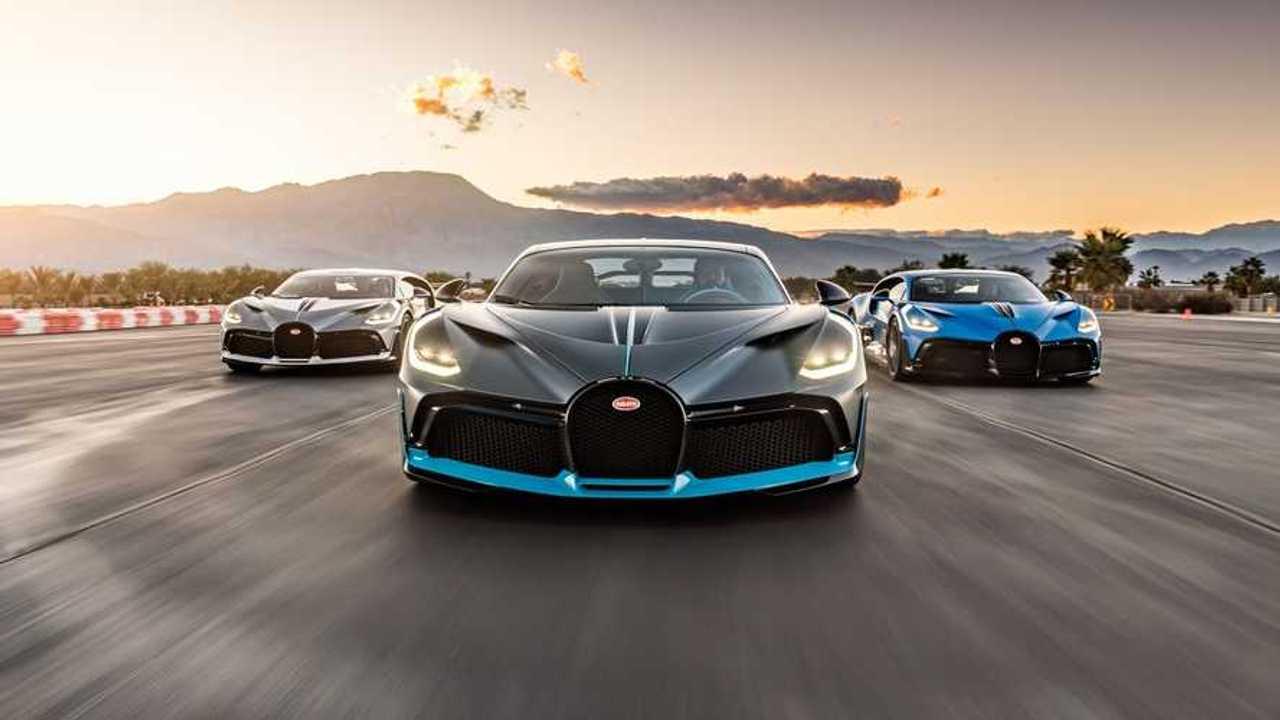Bugatti Divo in pista