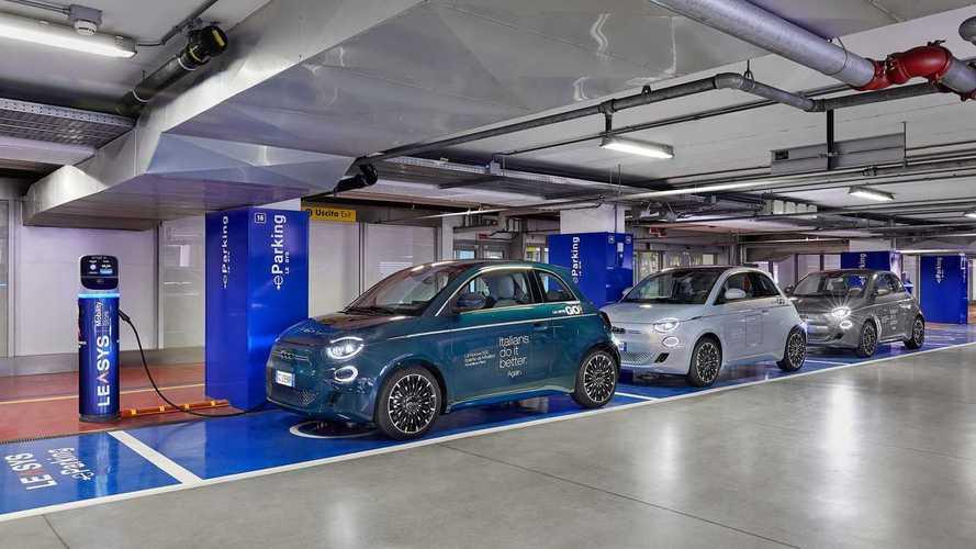 La Fiat 500 elettrica entra nel car sharing con LeasysGO!