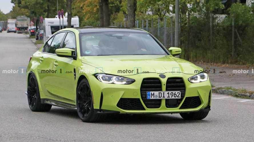 2021 BMW M3 Spy Photos Front 3/4