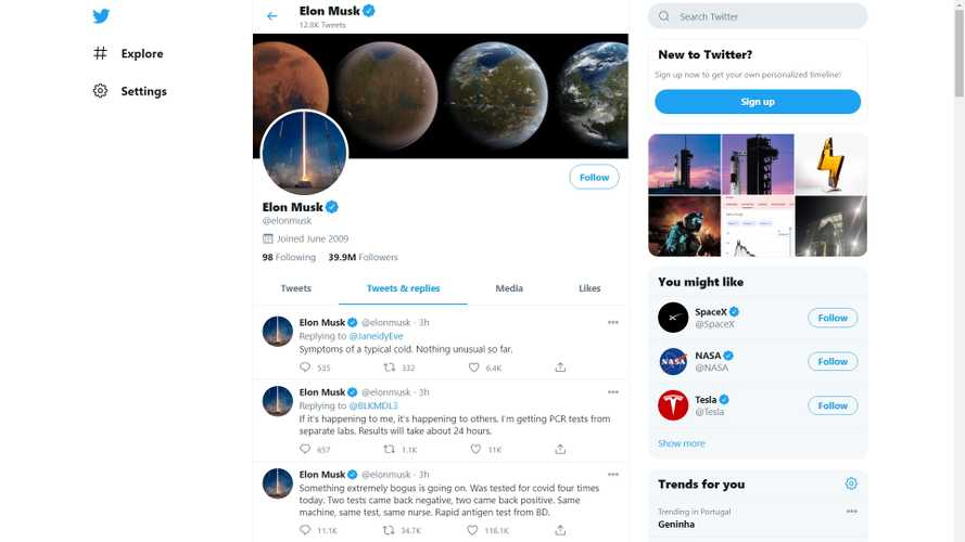 Elon Musk Says On Twitter He Tested Positive For COVID-19