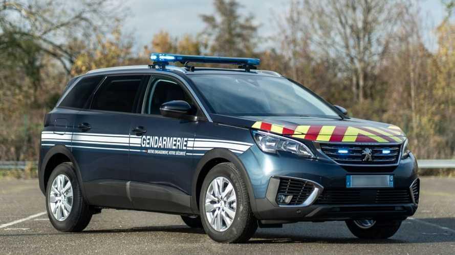Peugeot 5008, los nuevos coches patrulla de la Gendarmería francesa